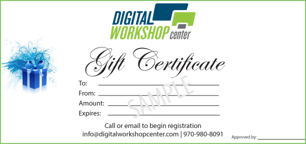 gift certificates computer classes fort collins denver online