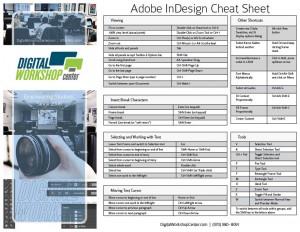 Adobe InDesign Cheat Sheet | Digital Workshop Center