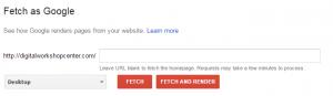 Crawl errors - fetch as google