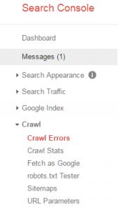 Google Crawl Errors