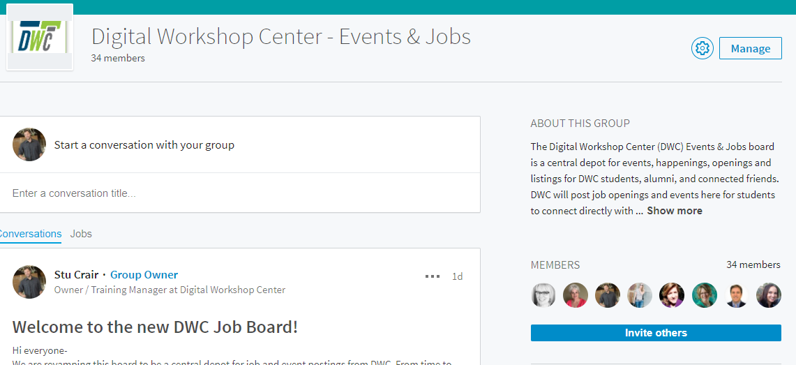 New LinkedIn Job and Event Board for DWC community in Fort Collins and Denver