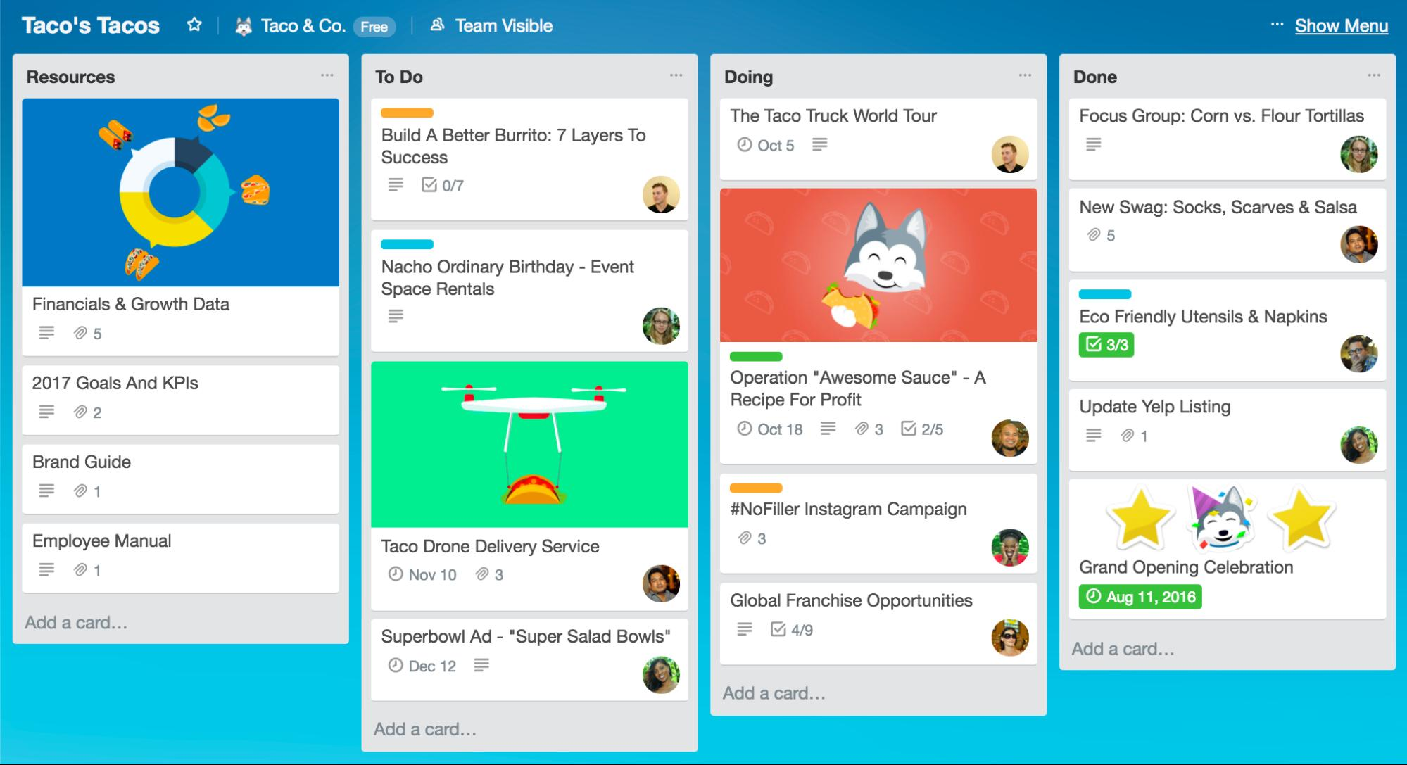 Connect with Coworkers Online Trello