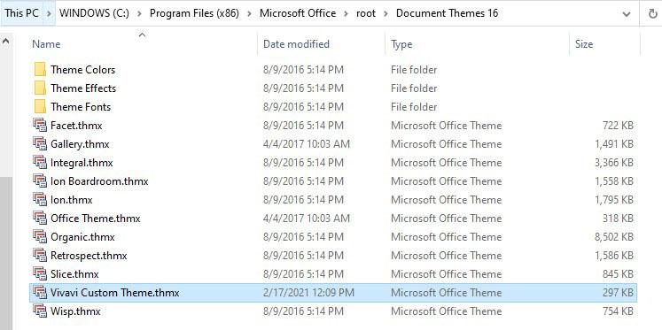Custom THMX file