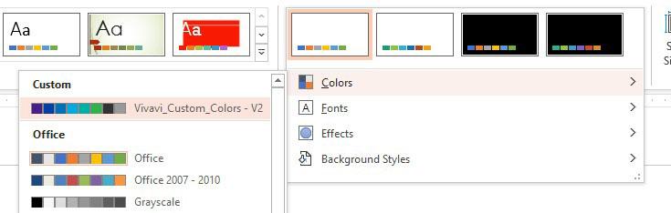Variants on Design Tab