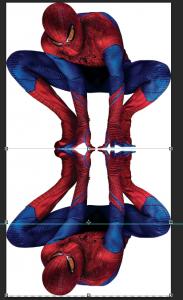 Flipped Spider-Man