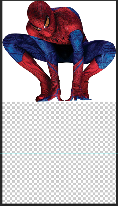Mirror Images in Photoshop - New Document - Spiderman