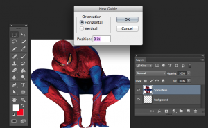 Mirror Images in Photoshop - New Guide Box