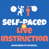 Self Paced Learning Versus Live Instruction in Professional Development Training [Infographic]